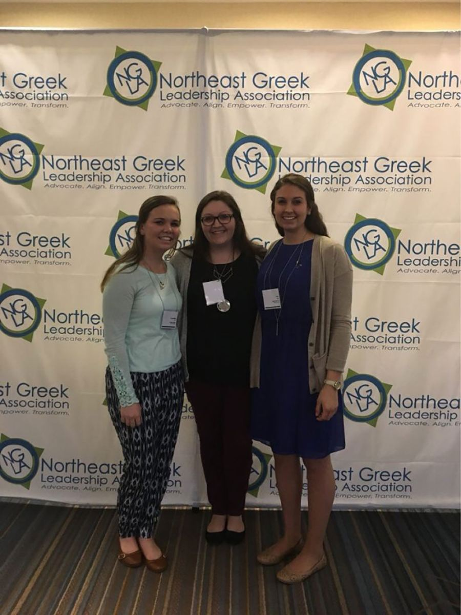 Maria Hays at the Northeast Greek Leadership Association